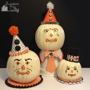 diy-vintage-clown-pumpkins-decorating-with-paper-and-paint