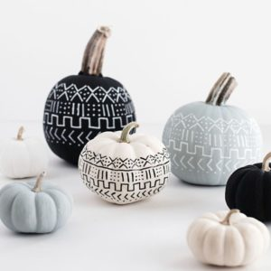 diy-mud-cloth-pumpkins