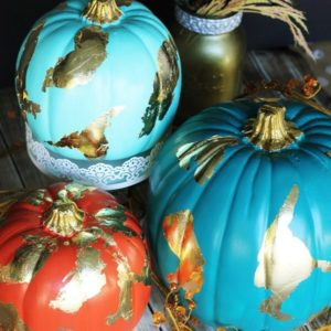 gold-foil-pumpkins