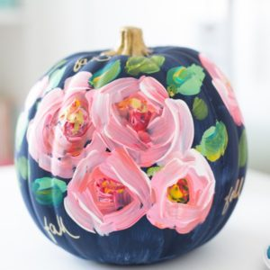 hand-painted-floral-pumpkin