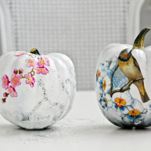 funky-decoupaged-pumpkins