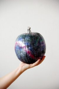 Holding Galaxy Art Pumpkin