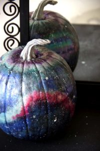 Galaxy Art Pumpkin Mirror