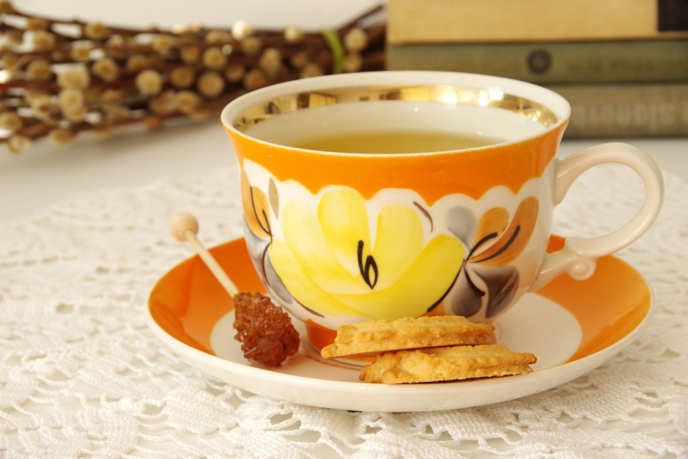 The calm effect of chamomile tea